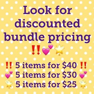 ‼️💕🌟 Discounted Bundle Pricing Available ‼️💕🌟